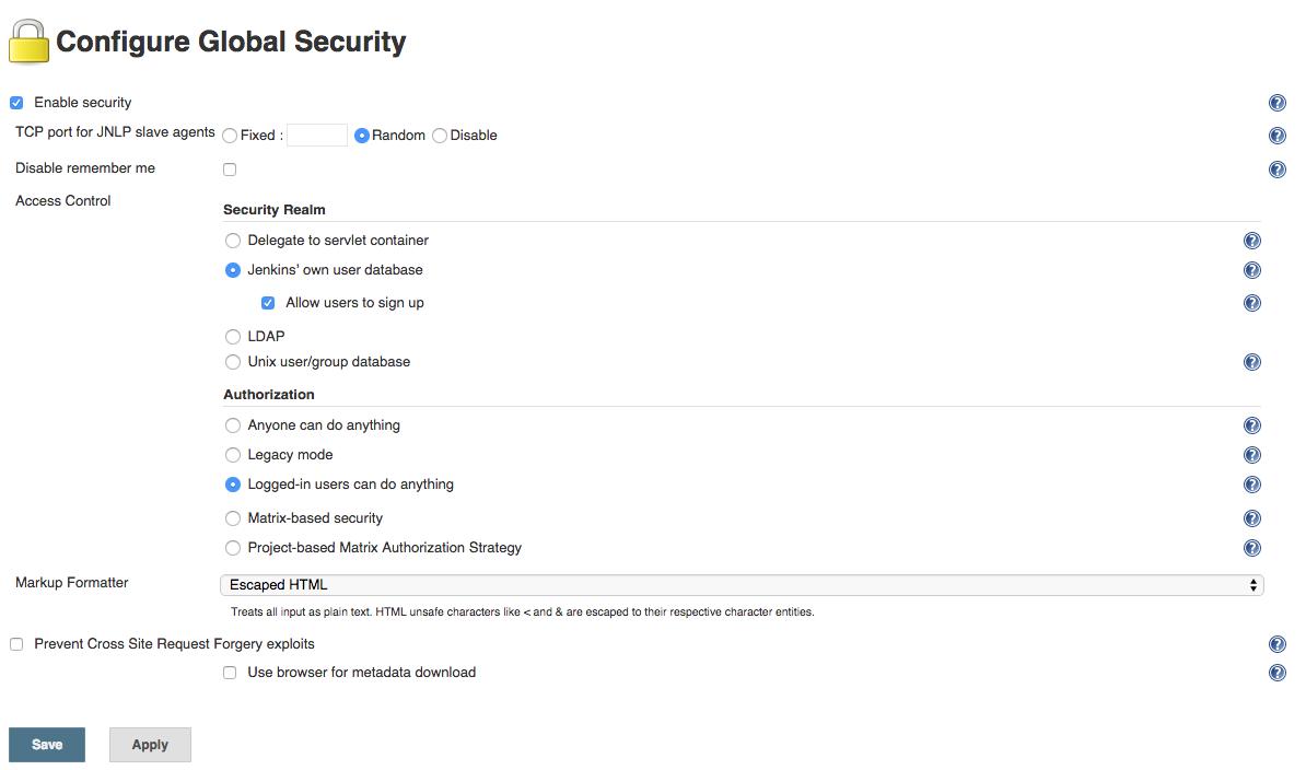 Zymr Configure Global Security