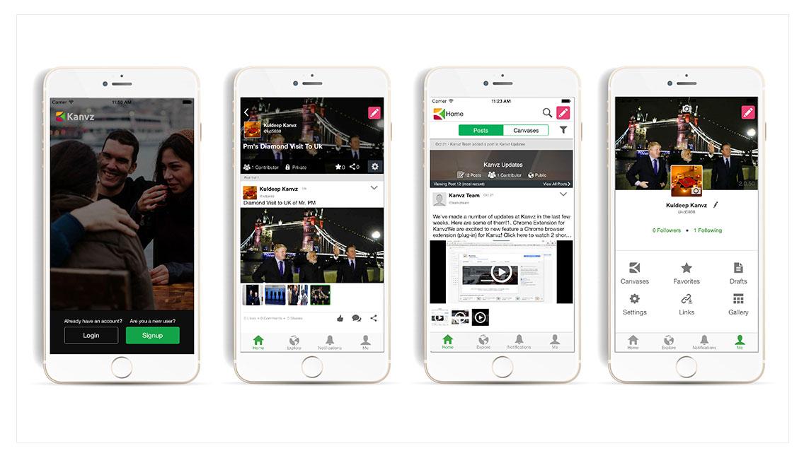 Kanvz Mobile App