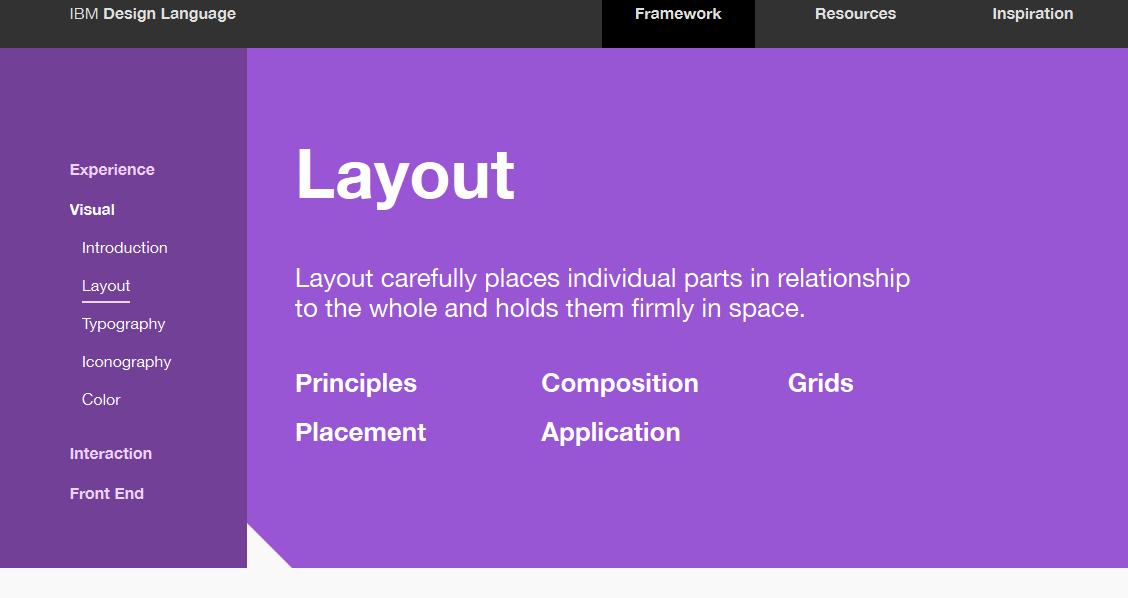 IBM Visual Layout