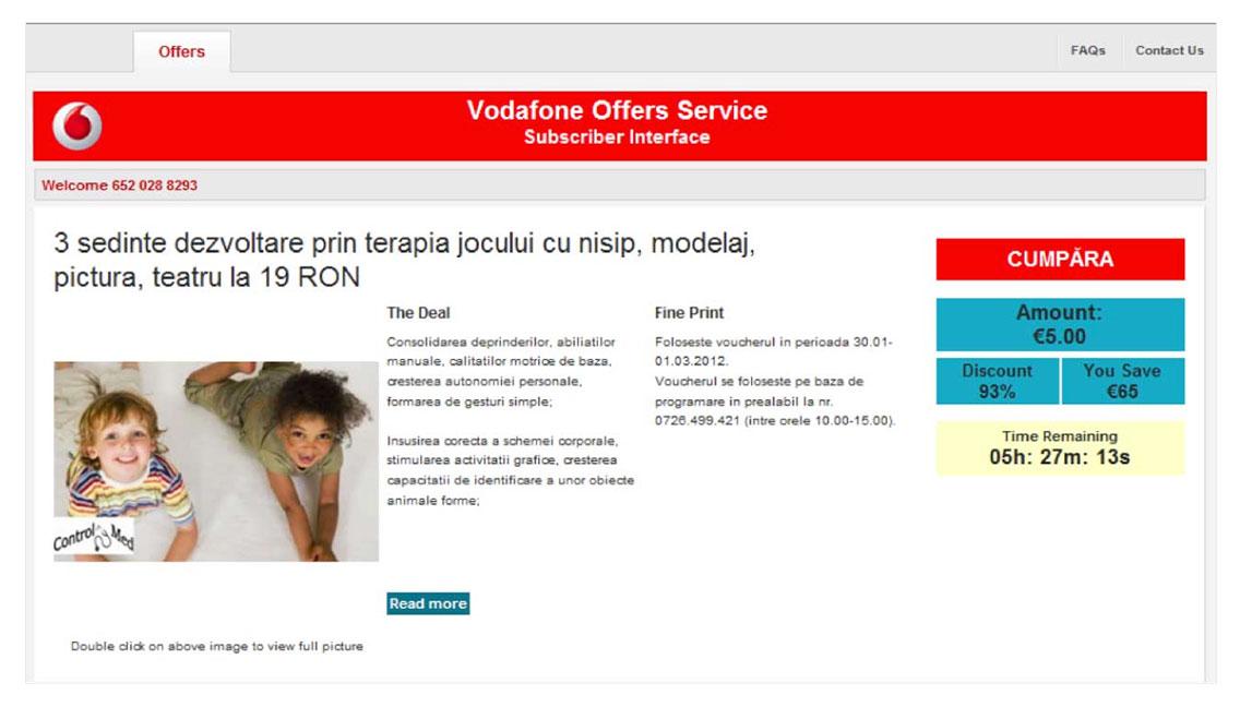 Dashboard Vodafone 2