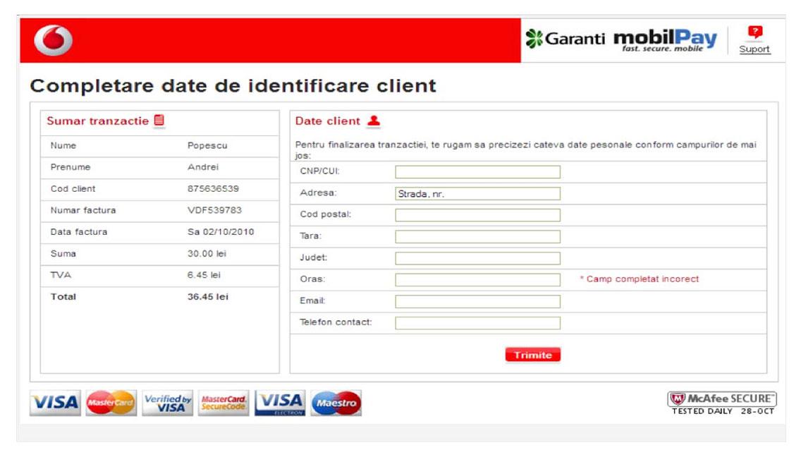 Dashboard Vodafone 3